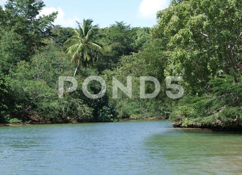 Stock photo of dominican republic waterside scenery