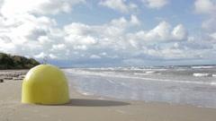 Buoy mooring. Baltic sea. Sunny day. Stock Footage