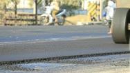 Road repair work. Stock Footage