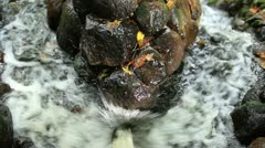 Water beating on the stone. Stock Footage