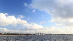 Baltic sea in Liepaja, Latvia. Stock Footage