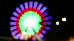 Park attraction in blur. - stock footage