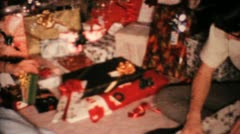 Young Man Gets New Shirt For Christmas-1967 Vintage 8mm film - stock footage