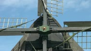 Stock Video Footage of Netherlands Kinderdijk blade lattice and hub zoom out to windmill 16