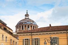 cupola of chiesa della steccata in parma - stock photo