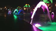 Stock Video Footage of colourful fountains