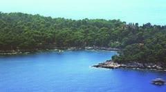 Dubrovnik Lokrum aerial Stock Footage