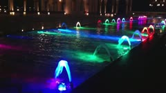Colourful fountains Stock Footage