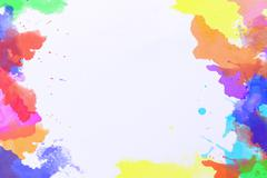 Abstract water color painting on white drawing paper Stock Photos