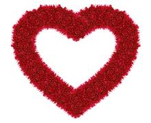 red love heart - stock photo