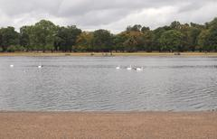 kensington gardens london - stock photo