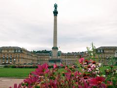 schlossplatz (castle square) stuttgart - stock photo