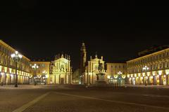 Stock Photo of piazza san carlo, turin