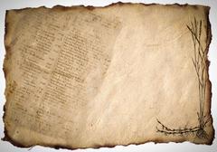 vintage grunge letter . - stock photo