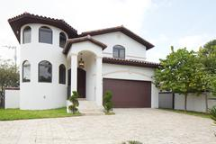 Unique single family home Stock Photos