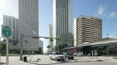 Downtown Miami Biscayne Stock Footage