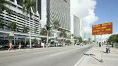 Biscayne Boulevard - stock footage