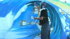 Stock Video Footage of street artist