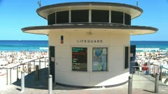 Bondi beach lifeguard tower Stock Footage