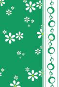 White retro daisy design Stock Illustration