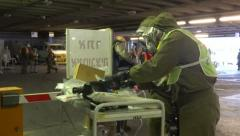 Hospital Emergency training NBC Preparedness Stock Footage