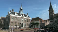 Netherlands Edam Town Hall and tall tower Stock Footage