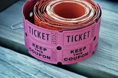 raffle tickets - stock photo