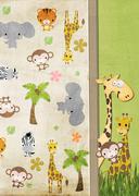 Juvenile jungle animals Stock Illustration