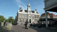 Holland Edam with motor bike s Stock Footage