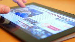 Surfing The Internet On Touch Screen Tablet - stock footage