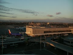 Los Angeles Airport time lapse Stock Footage
