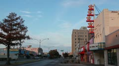 Dallas' Texas Theater with Cloud time-lapse Stock Footage