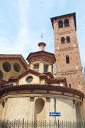 Santa maria and satiro church, milan Stock Photos