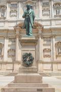 manzoni statue, milan - stock photo
