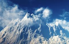 Stock Illustration of mountain peaks