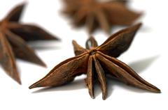 illicium verum - stock photo