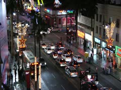 Hollywood blvd Timelapse NIGHT2 - stock footage
