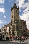 Old hall tower, prague Stock Photos