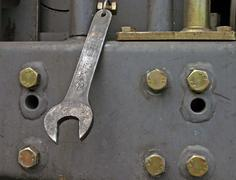 Dangling spanner Stock Photos