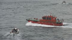 Istanbul pilot boat amongst small boats Stock Footage