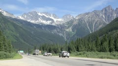Rogers Pass Traffic Stock Footage