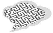 Labyrinth in bubble Stock Illustration