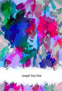watercolor painting on grunge background - stock photo