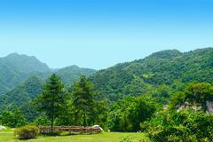 cuihua mountain, xian, china - stock photo