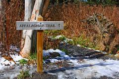 Appalachian trail in great smoky mountains, usa Stock Photos