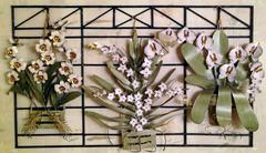 Wall ornament with flowers Stock Photos
