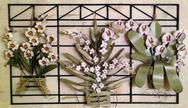 Stock Photo of Wall ornament with flowers