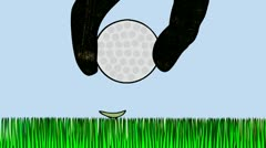 cosmic golf - stock footage