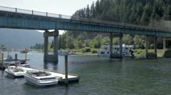 TransCanada Highway Bridge Stock Footage
