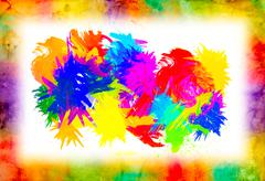 Watercolor splat on grunge background Stock Photos